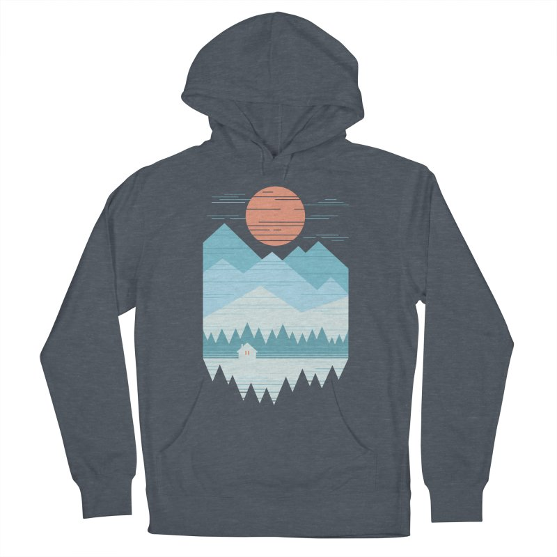 Cabin In The Snow Men's French Terry Pullover Hoody by thepapercrane's shop