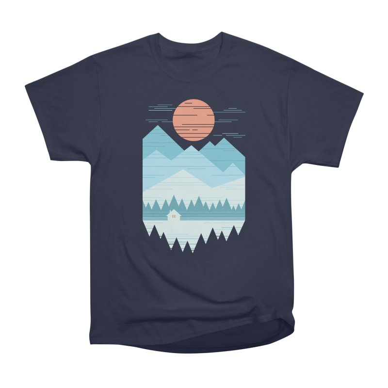 Cabin In The Snow Women's Heavyweight Unisex T-Shirt by thepapercrane's shop