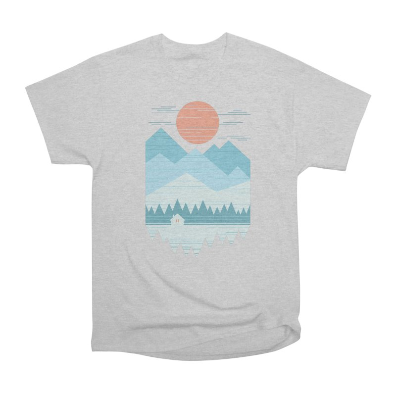 Cabin In The Snow Men's Heavyweight T-Shirt by thepapercrane's shop