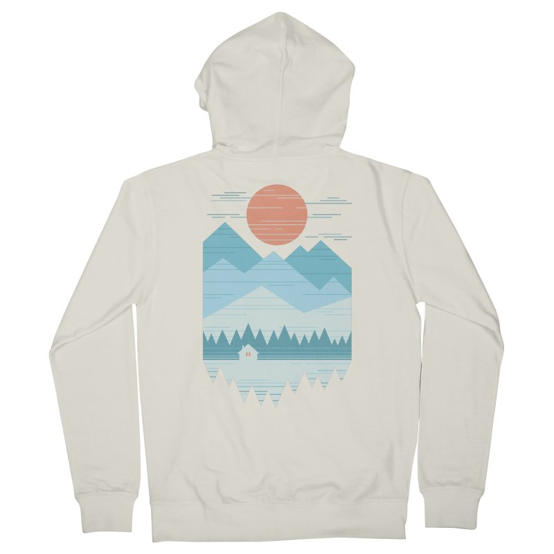 Cabin In The Snow Women's French Terry Zip-Up Hoody by thepapercrane's shop