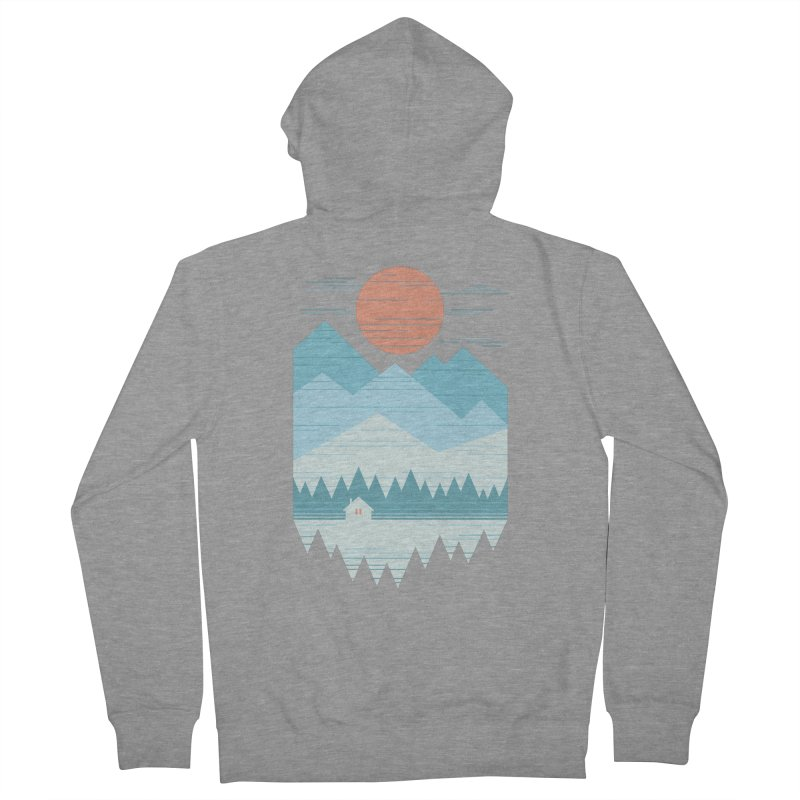 Cabin In The Snow Men's French Terry Zip-Up Hoody by thepapercrane's shop