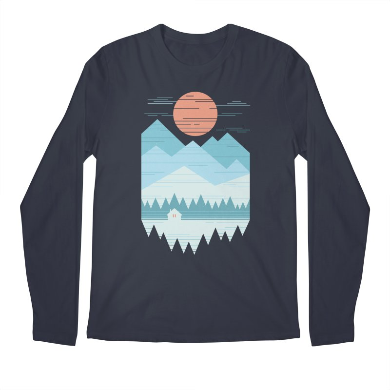 Cabin In The Snow Men's Regular Longsleeve T-Shirt by thepapercrane's shop