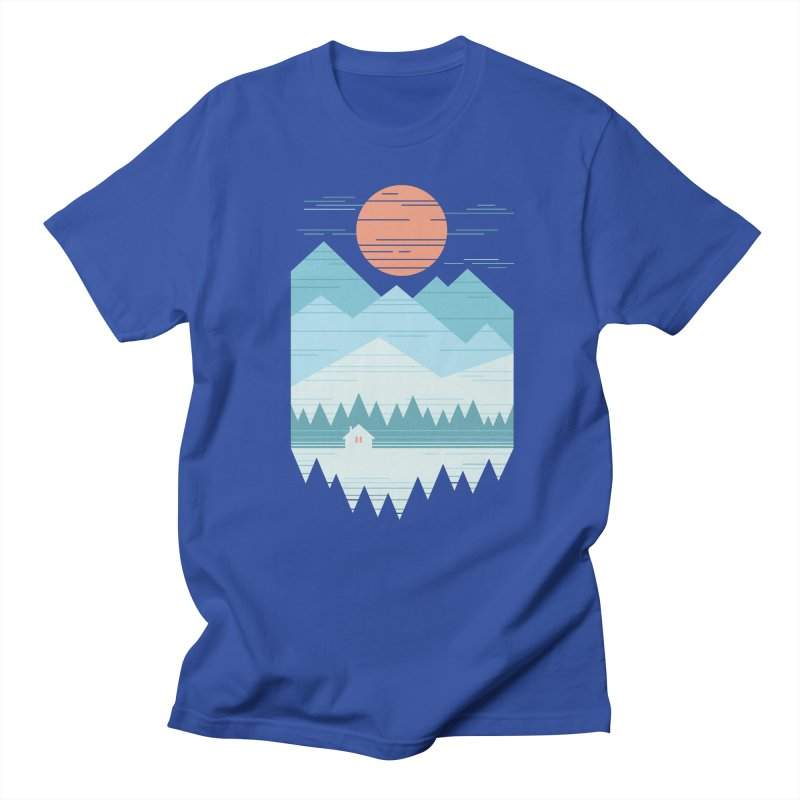Cabin In The Snow Men's Regular T-Shirt by thepapercrane's shop