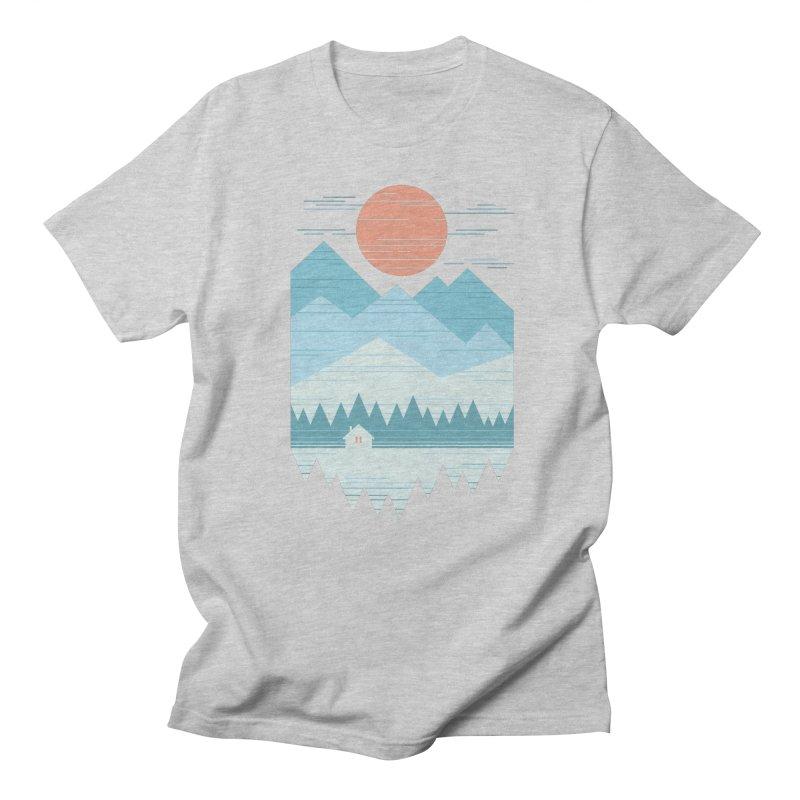 Cabin In The Snow Men's Regular T-Shirt by thepapercrane's shop