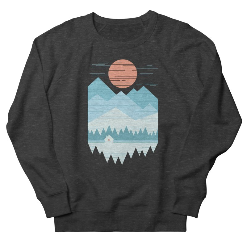 Cabin In The Snow Women's French Terry Sweatshirt by thepapercrane's shop