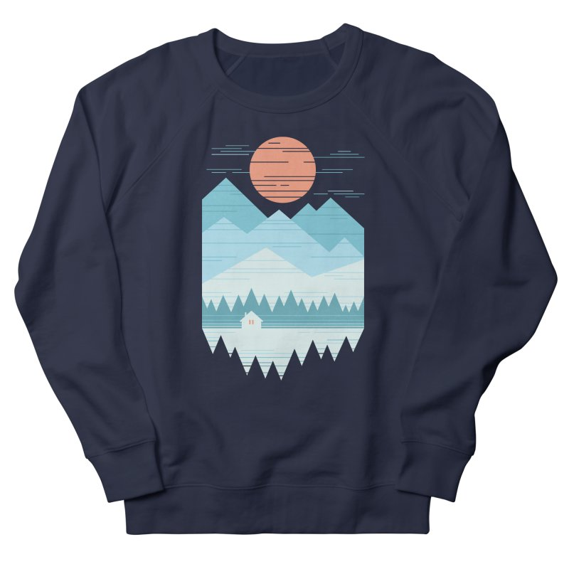 Cabin In The Snow Women's Sweatshirt by thepapercrane's shop