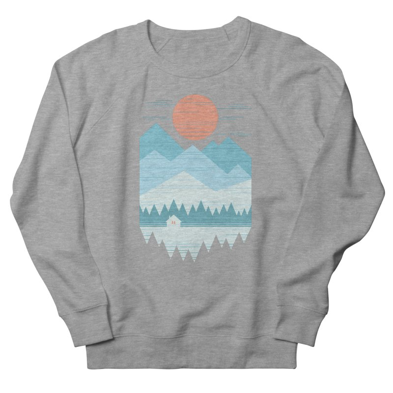 Cabin In The Snow Men's French Terry Sweatshirt by thepapercrane's shop
