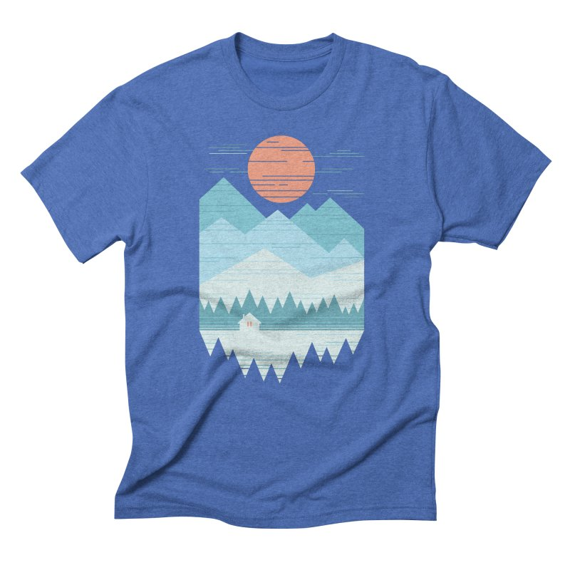 Cabin In The Snow Men's Triblend T-Shirt by thepapercrane's shop