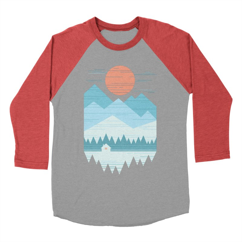 Cabin In The Snow Women's Baseball Triblend Longsleeve T-Shirt by thepapercrane's shop