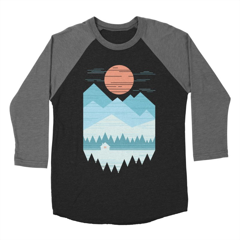 Cabin In The Snow Women's Longsleeve T-Shirt by thepapercrane's shop