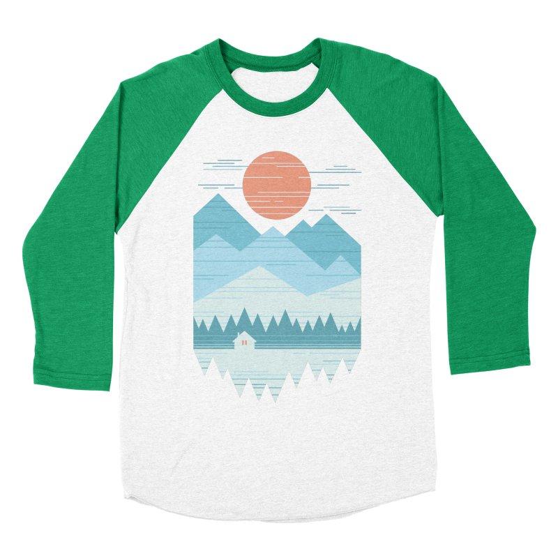 Cabin In The Snow Men's Baseball Triblend Longsleeve T-Shirt by thepapercrane's shop