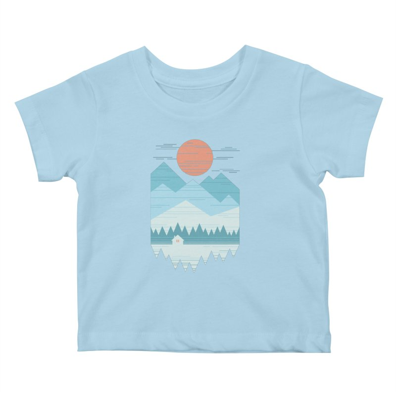 Cabin In The Snow Kids Baby T-Shirt by thepapercrane's shop
