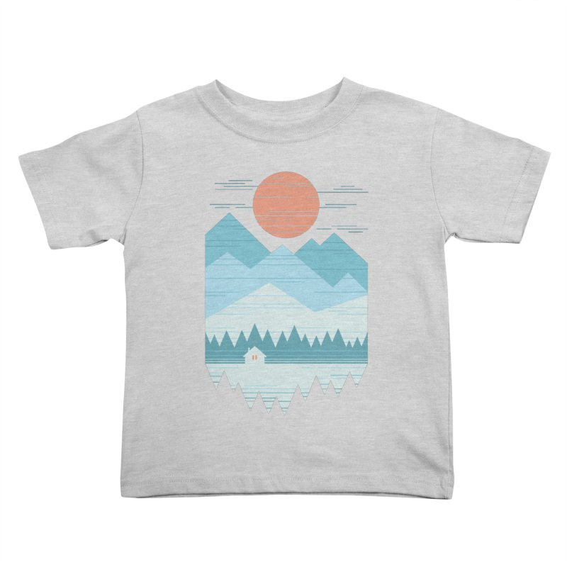 Cabin In The Snow Kids Toddler T-Shirt by thepapercrane's shop
