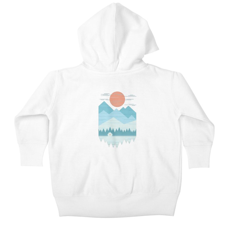 Cabin In The Snow Kids Baby Zip-Up Hoody by thepapercrane's shop