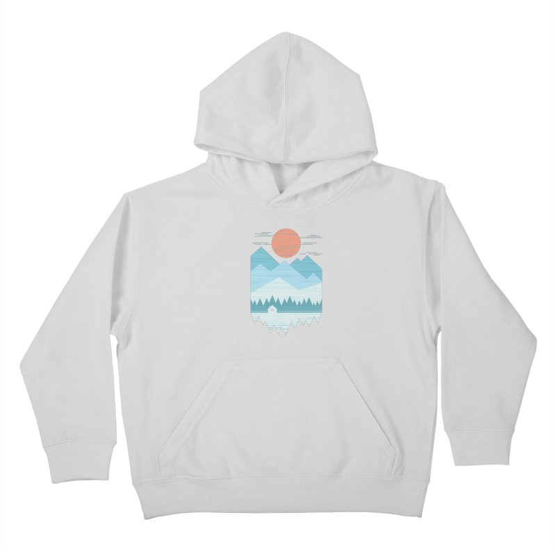 Cabin In The Snow Kids Pullover Hoody by thepapercrane's shop