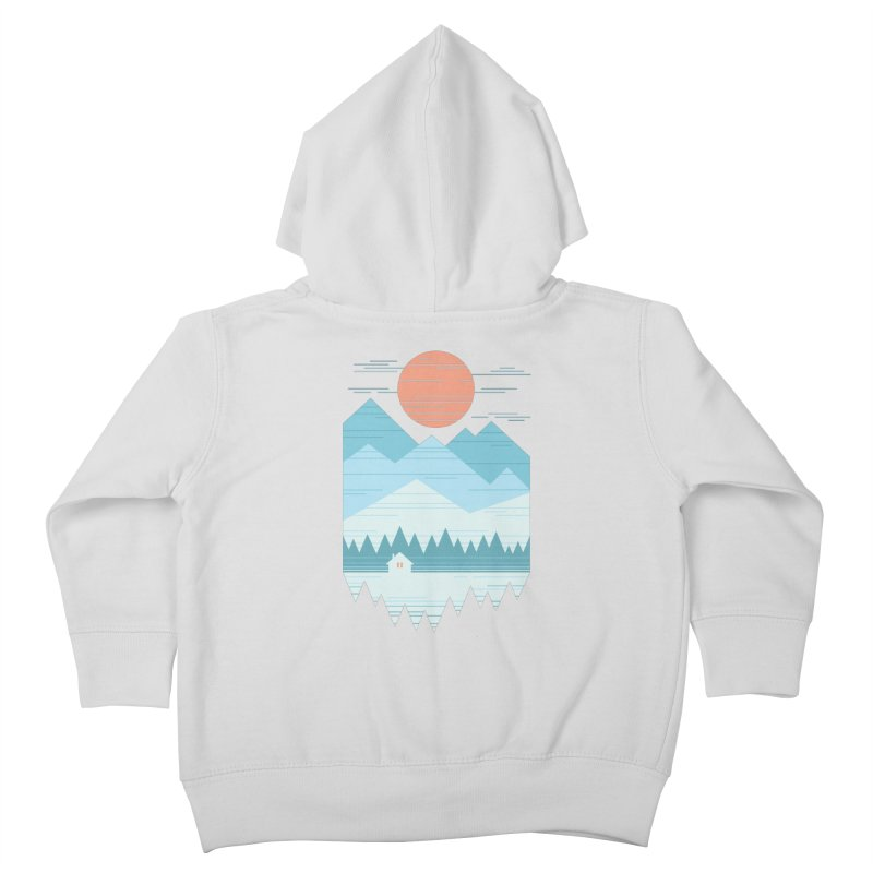 Cabin In The Snow Kids Toddler Zip-Up Hoody by thepapercrane's shop
