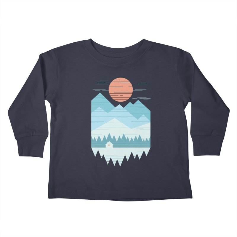 Cabin In The Snow Kids Toddler Longsleeve T-Shirt by thepapercrane's shop