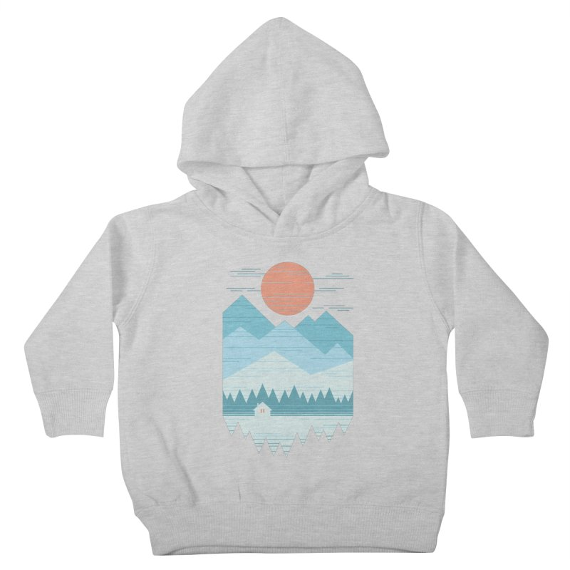 Cabin In The Snow Kids Toddler Pullover Hoody by thepapercrane's shop