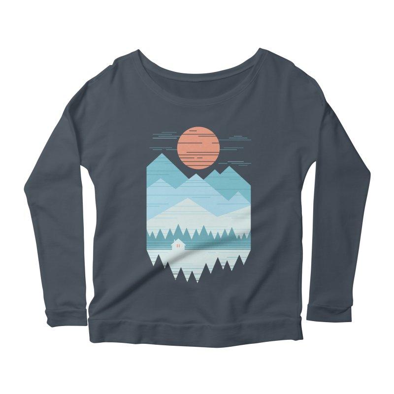 Cabin In The Snow Women's Scoop Neck Longsleeve T-Shirt by thepapercrane's shop
