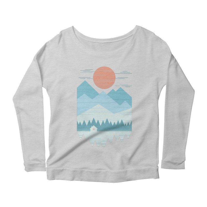 Cabin In The Snow Women's Scoop Neck Longsleeve T-Shirt by thepapercrane's shop