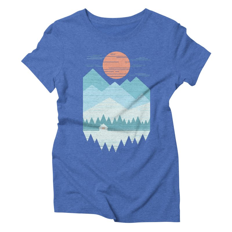 Cabin In The Snow Women's Triblend T-Shirt by thepapercrane's shop