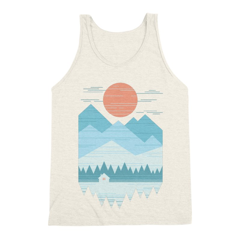 Cabin In The Snow Men's Triblend Tank by thepapercrane's shop