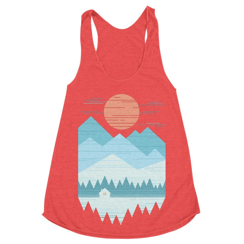 Cabin In The Snow Women's Tank by thepapercrane's shop