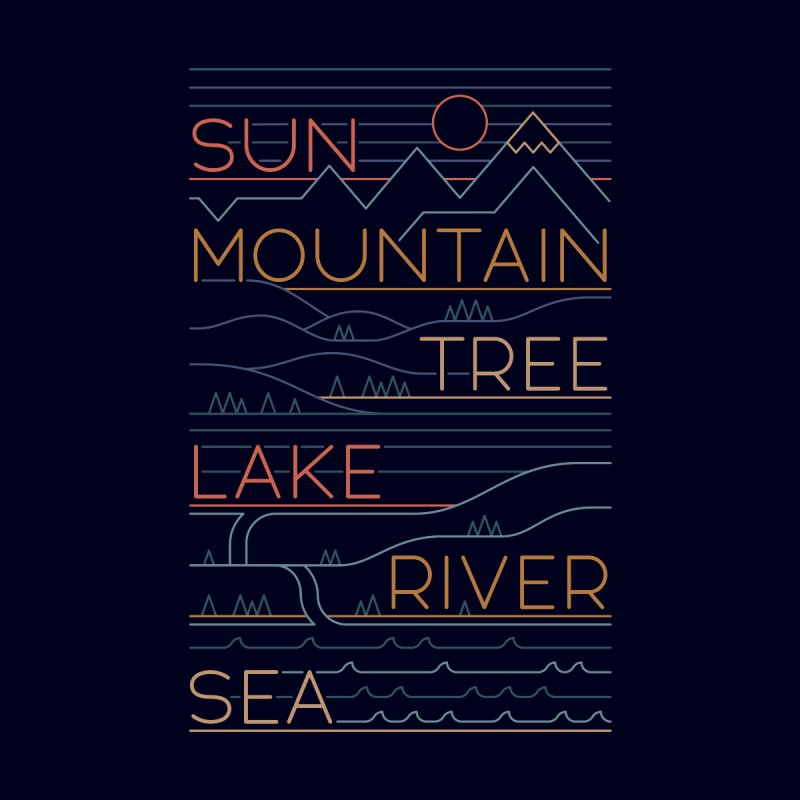 Sun, Mountain, Tree Accessories Sticker by thepapercrane's shop