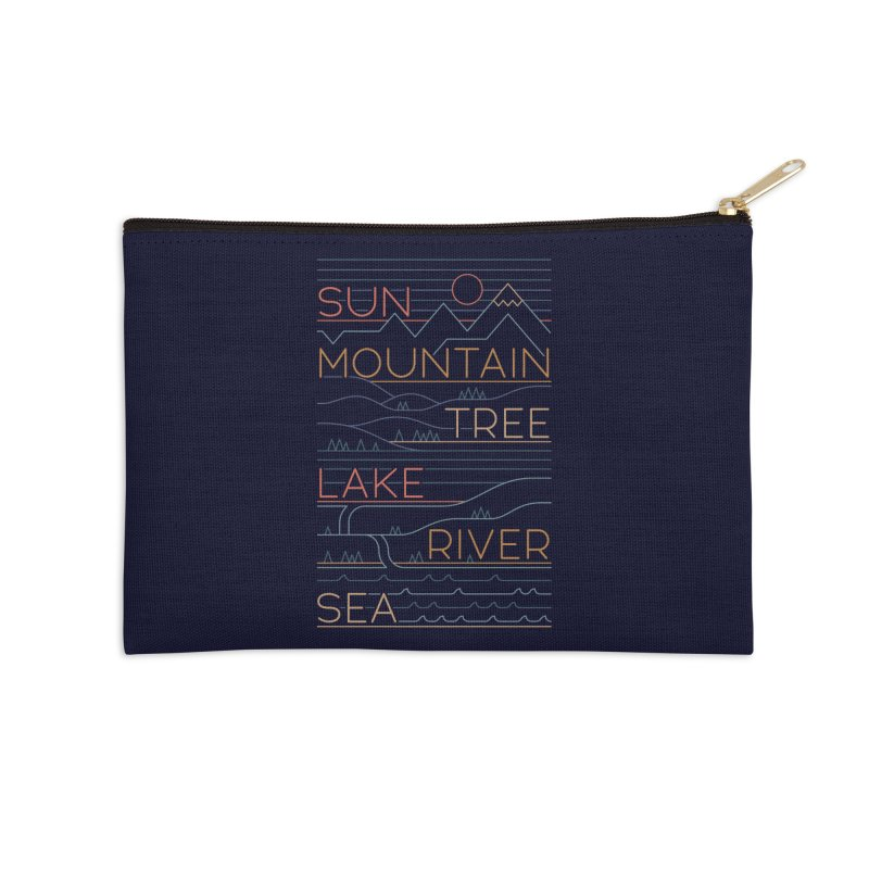 Sun, Mountain, Tree Accessories Zip Pouch by thepapercrane's shop