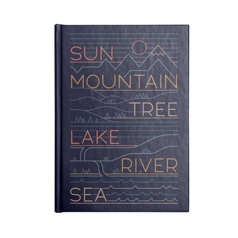 Sun, Mountain, Tree Accessories Notebook by thepapercrane's shop