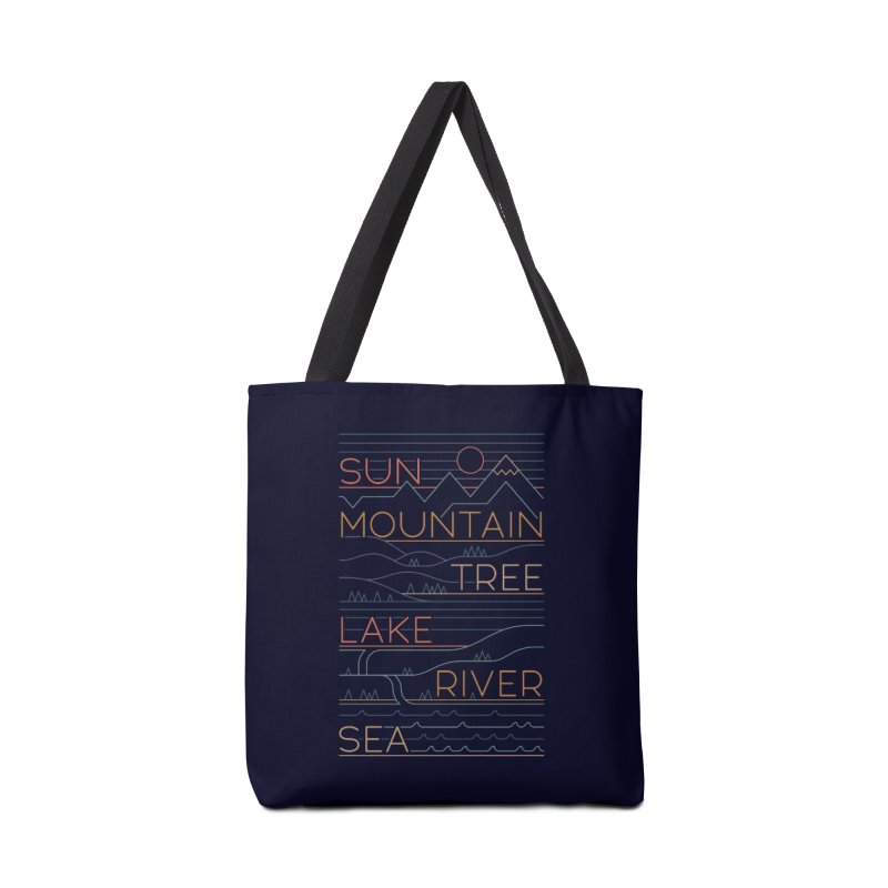 Sun, Mountain, Tree Accessories Tote Bag Bag by thepapercrane's shop