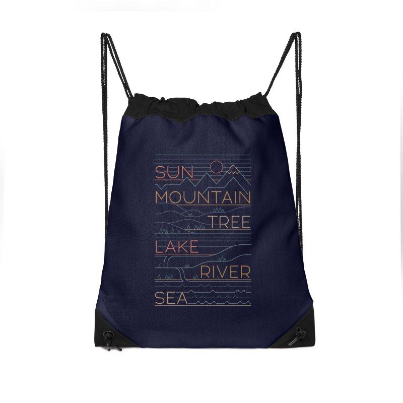 Sun, Mountain, Tree Accessories Bag by thepapercrane's shop