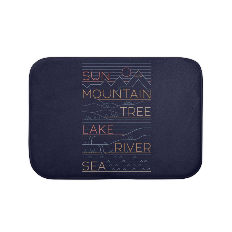 Sun, Mountain, Tree Home Bath Mat by thepapercrane's shop