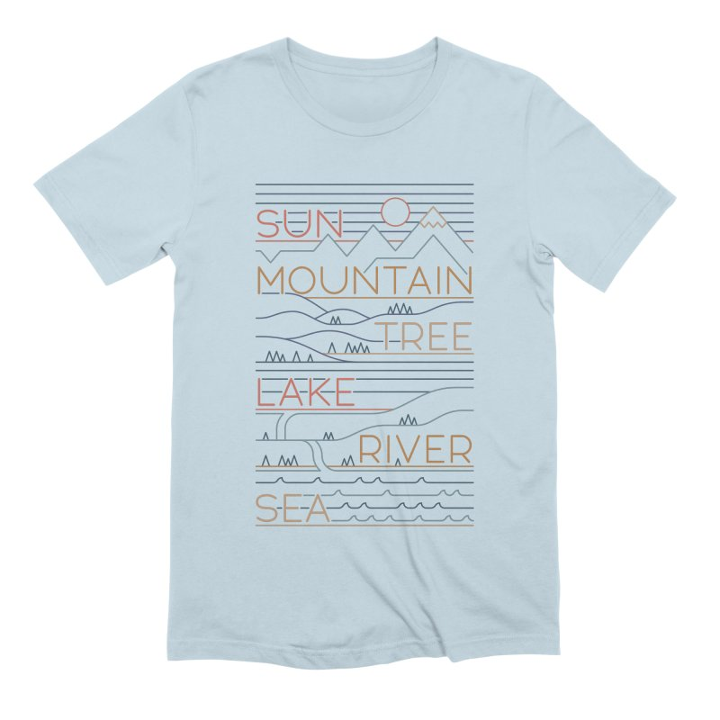 Sun, Mountain, Tree Men's Extra Soft T-Shirt by thepapercrane's shop