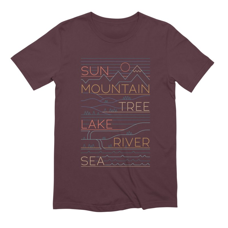 Sun, Mountain, Tree Men's Extra Soft T-Shirt by thepapercrane's shop