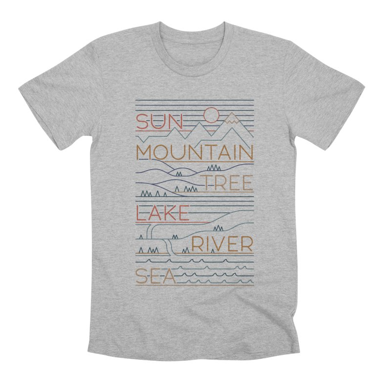 Sun, Mountain, Tree Men's T-Shirt by thepapercrane's shop