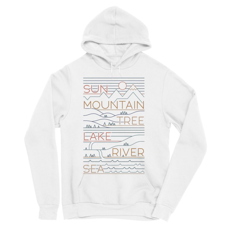 Sun, Mountain, Tree Men's Pullover Hoody by thepapercrane's shop