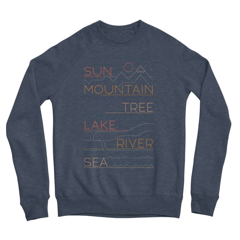 Sun, Mountain, Tree Women's Sponge Fleece Sweatshirt by thepapercrane's shop