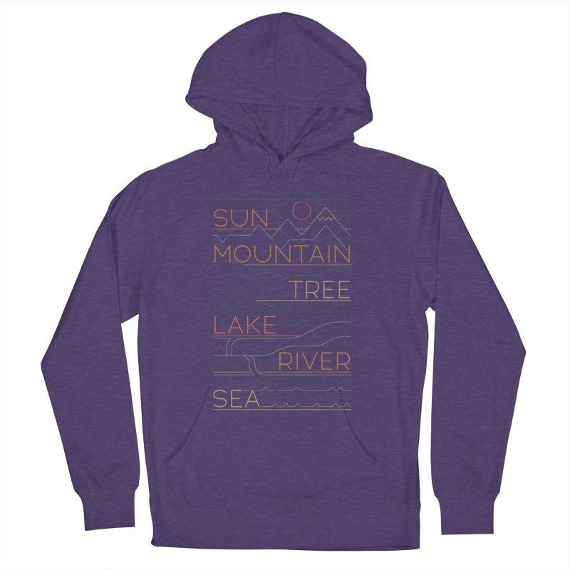 Sun, Mountain, Tree Men's Pullover Hoody by thepapercrane's shop