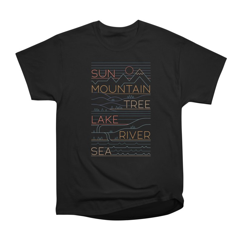 Sun, Mountain, Tree Women's T-Shirt by thepapercrane's shop