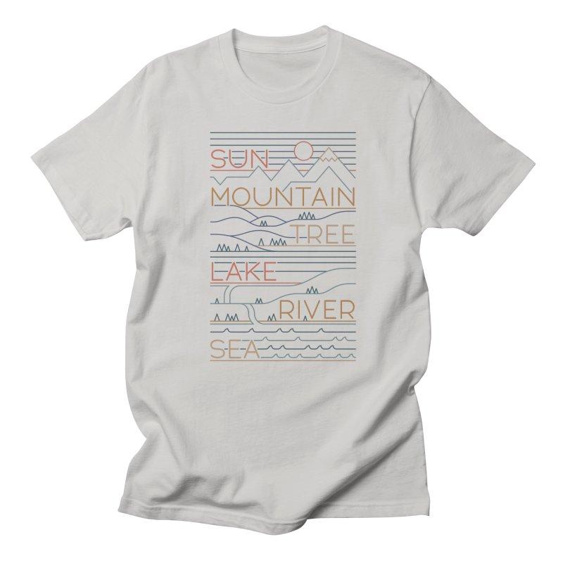 Sun, Mountain, Tree Women's T-Shirt by thepapercrane's shop