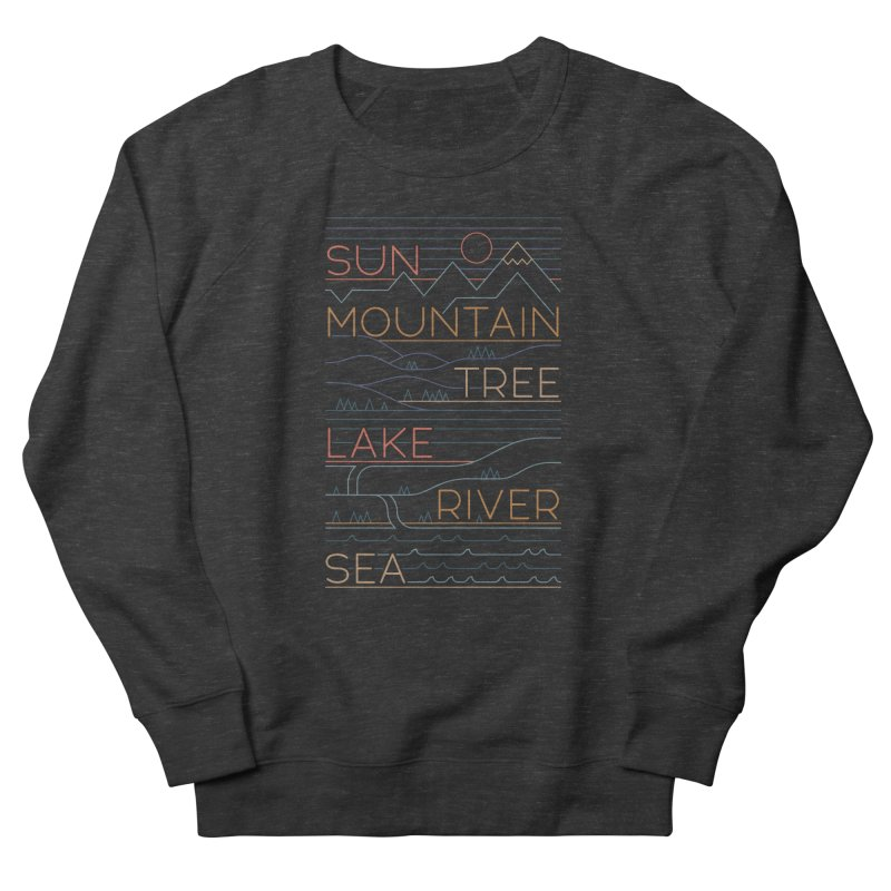 Sun, Mountain, Tree Women's Sweatshirt by thepapercrane's shop