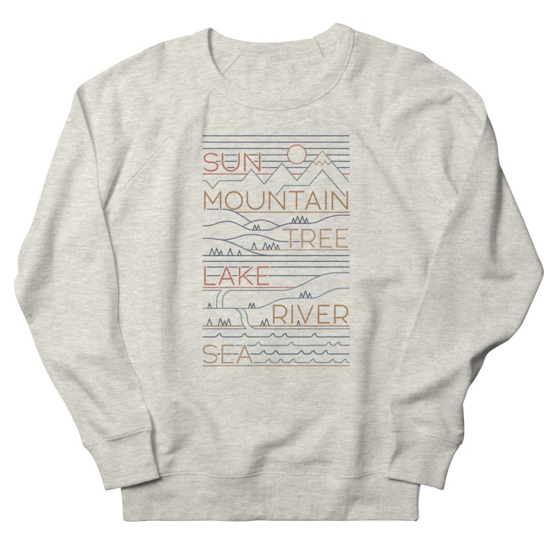 Sun, Mountain, Tree Men's Sweatshirt by thepapercrane's shop
