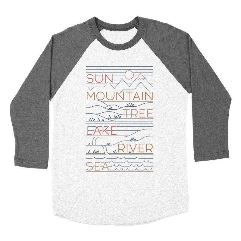 Sun, Mountain, Tree Men's Longsleeve T-Shirt by thepapercrane's shop