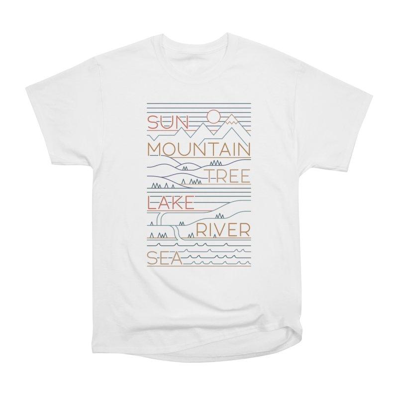 Sun, Mountain, Tree Men's T-Shirt by thepapercrane's shop