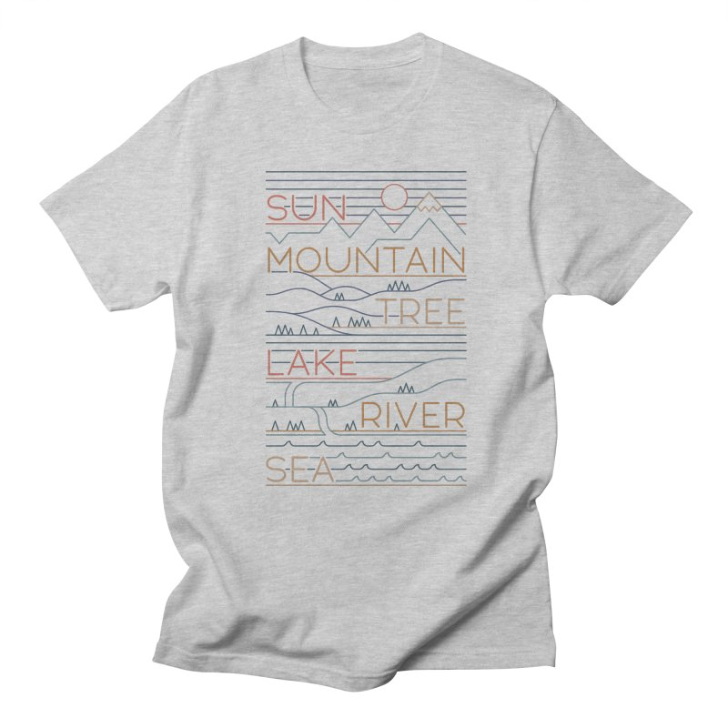 Sun, Mountain, Tree Women's Regular Unisex T-Shirt by thepapercrane's shop