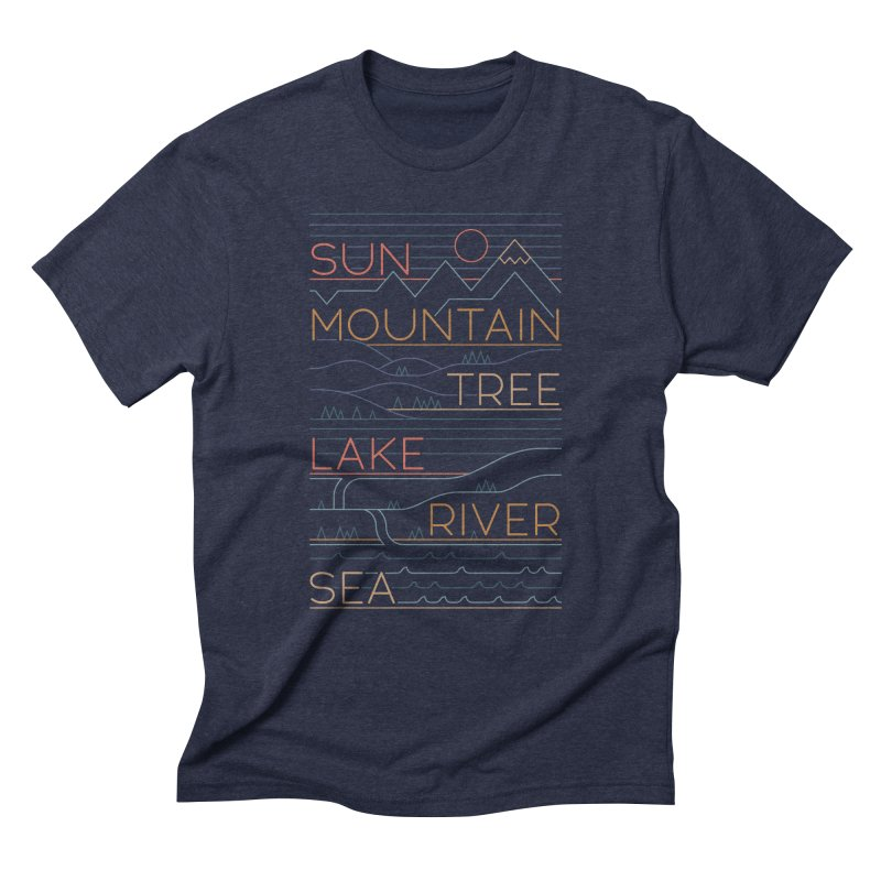 Sun, Mountain, Tree Men's Triblend T-Shirt by thepapercrane's shop
