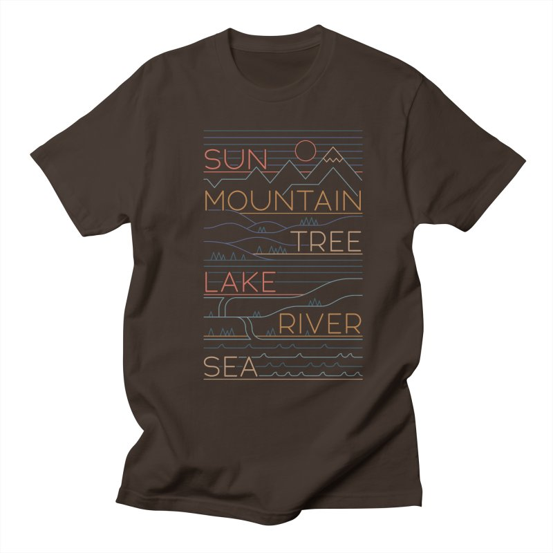 Sun, Mountain, Tree Men's Regular T-Shirt by thepapercrane's shop