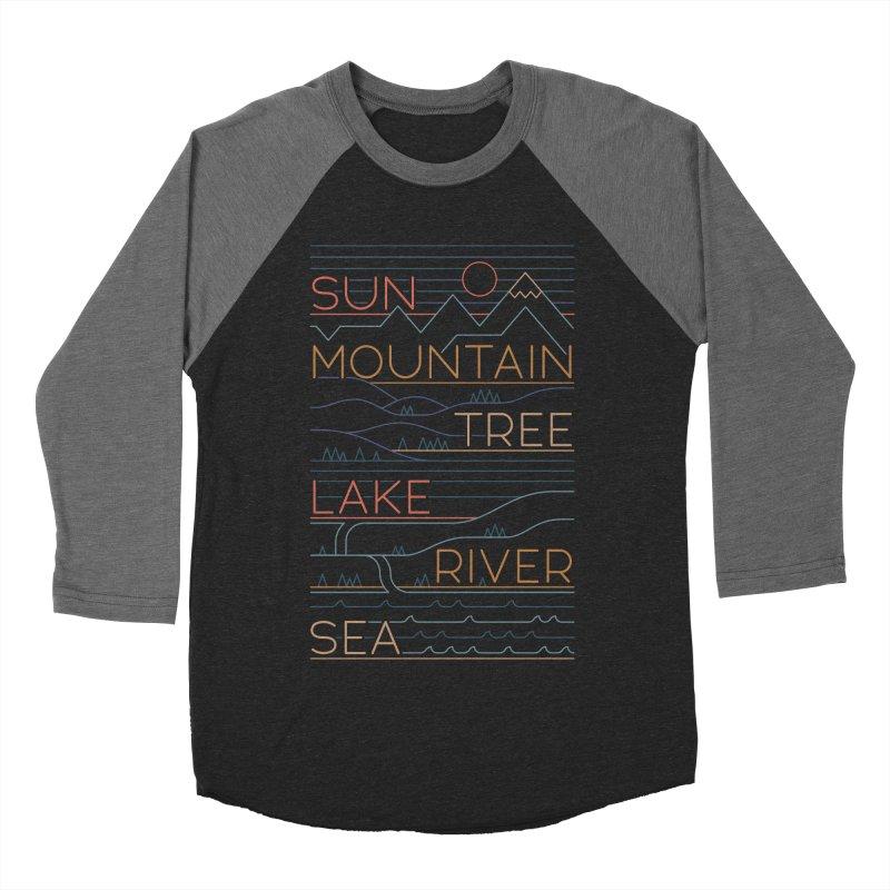 Sun, Mountain, Tree Women's Baseball Triblend Longsleeve T-Shirt by thepapercrane's shop