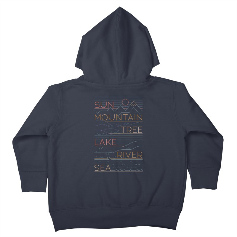 Sun, Mountain, Tree Kids Toddler Zip-Up Hoody by thepapercrane's shop